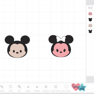 tsum tsum mickey and minnie faces