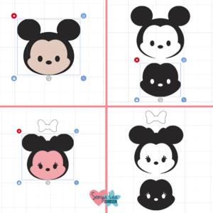 Mickey and Minnie Faces